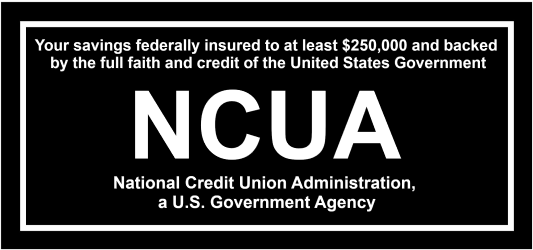 Federally Insured by NCUA up to at least $250,000